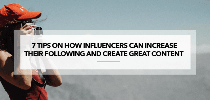 How to increase following and create content