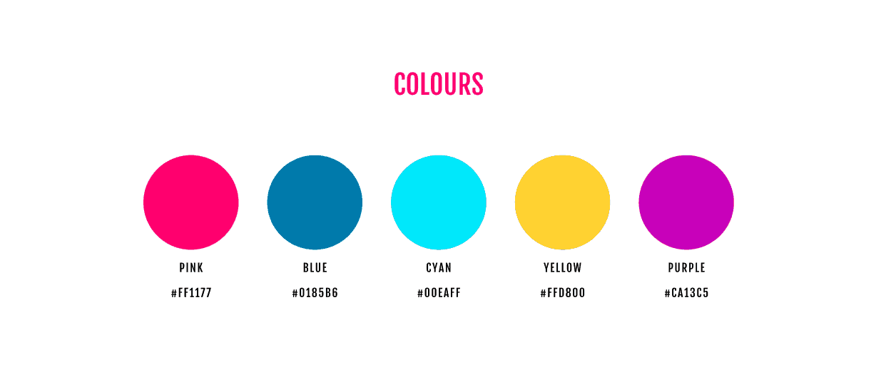 The colours section of our Figma Asset Management Template