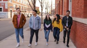 group of gen z young adults