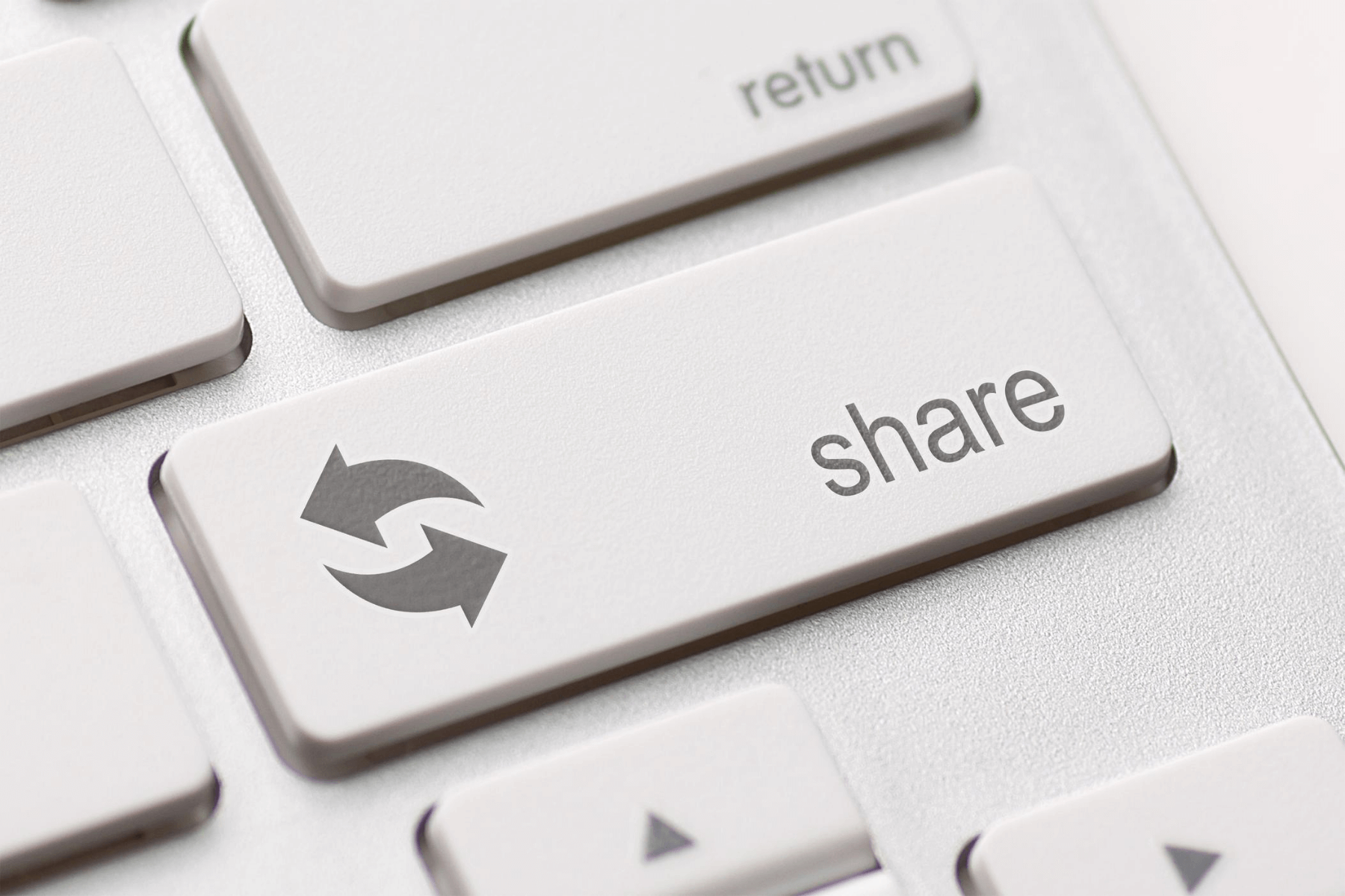 A button for sharing content
