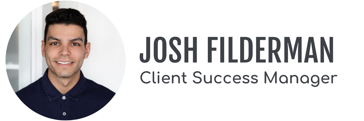 Client Success Manager Josh Filderman's headshot