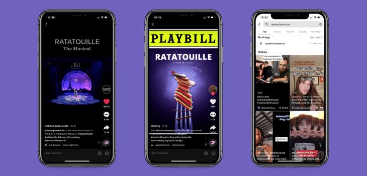 Screenshots of The Ratatouille Musical from TikTok
