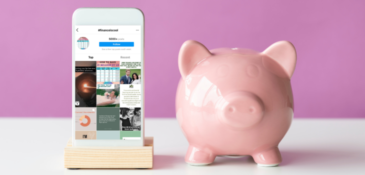 a phone and a piggy bank