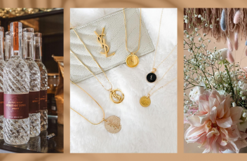 Spirit of York bottles, Bijoux Upcycled YSL necklaces, and Wildhood TO dried flower bouquet