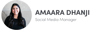Photo of Amaara Dhanji on left, Social Media Manager of The Influence Agency