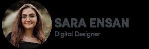 Photo of Sara Ensan on left, Digital Designer of The Influence Agency