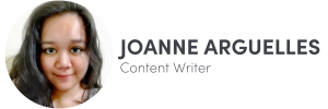 Photo of Joanne Arguelles on left, Content Writer of The Influence Agency