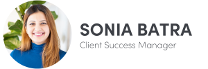 Photo of Sonia Batra on left, Client Success Manager of The Influence Agency