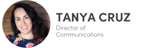 Photo of Tanya Cruz on left, Director of Communications of The Influence Agency