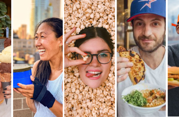 A collage of five New York food influencers