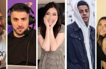 a collage of five Twitch gamers