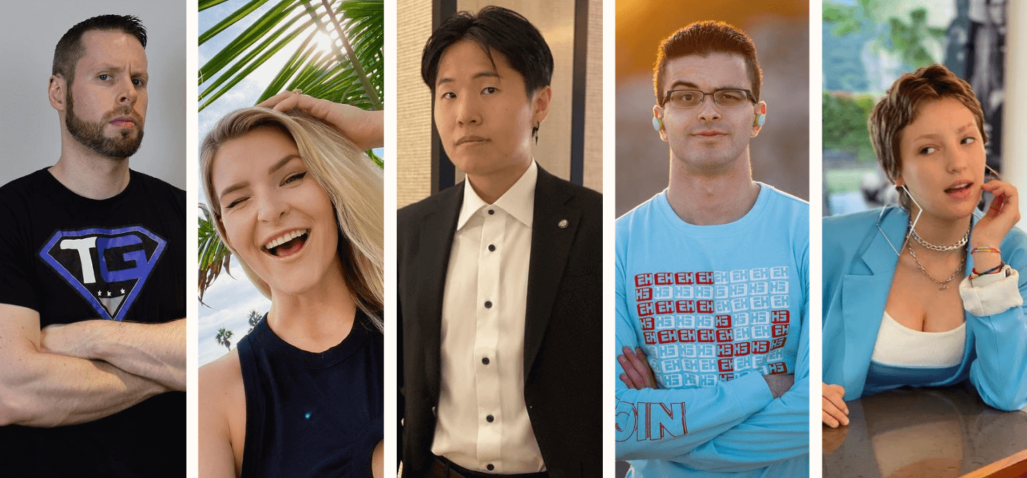a collage of five Canadian gaming influencers
