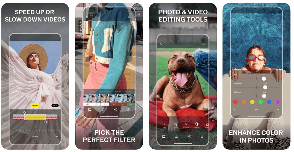 VSCO editing interface Photo via Apple App Store