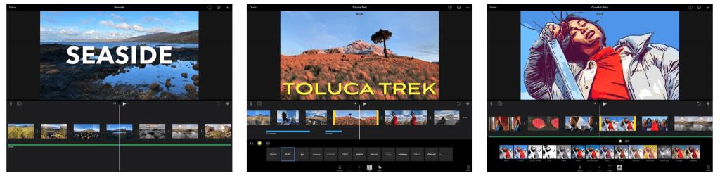 iMovie editor interface Photo via Apple App Store