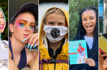 A collage of five Gen Z influencers