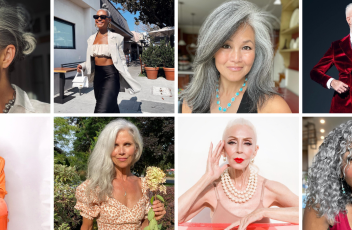 Collage of influencers over 50 years old