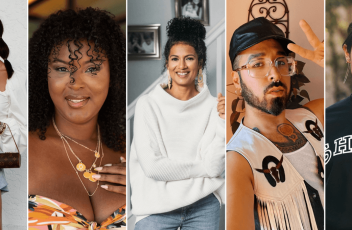 Collage of Hispanic/Latinx Influencers, Carla Nunes, Kisha Gulley, Antonia Fifi, Curly Velasquez, and Bethany Mota
